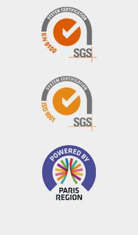 System Certification - EN 9100 & ISO 9001 - SGS - Powered by Paris Région